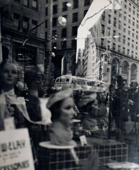 Lisette Model -  Fifth Avenue, New York (Reflections), c. 1945  | Bruce Silverstein Gallery