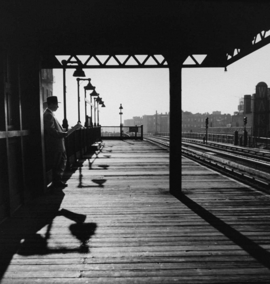 Larry Silver - Bronx Subway Station, New York, 1950 Gelatin silver print, printed later | Bruce Silverstein Gallery