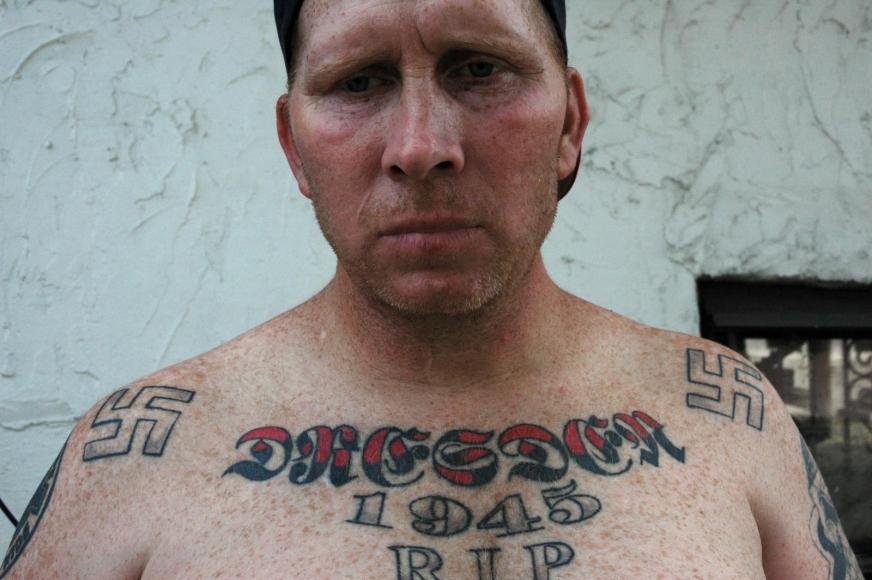 Zoe Strauss - Swastika Tattoos, 2001-2008  | Bruce Silverstein Gallery