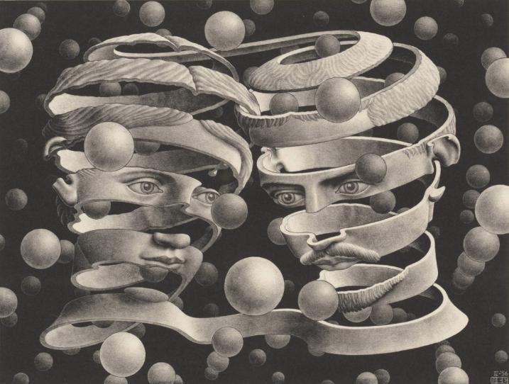 M.C. Escher,  Bond of Union, 1956 | Bruce Silverstein Gallery 2021