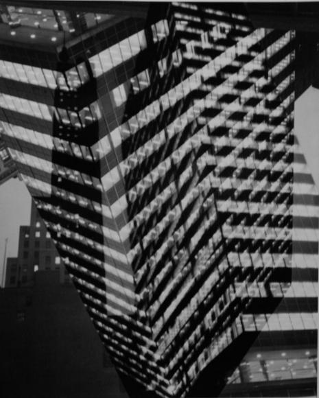 André KertészMultiple Exposure, Lever House Building, 390 Park Avenue, New York, 1952 Gelatin silver print, printed c. 1952. 14 x 11 inches