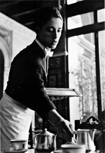 Frank Paulin - Waiter at the Hotel Alfonso XII, Seville, Spain, 1960 Gelatin silver print mounted to board, printed c. 1960 | Bruce Silverstein Gallery