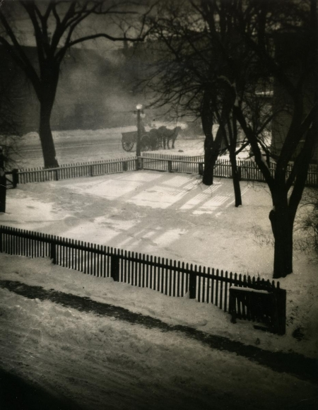 E. O. Hoppé - Middletown in the Snow, Connecticut, 1926    Bruce Silverstein Gallery