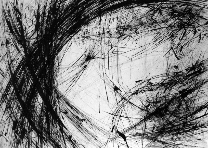Barbara Morgan - Orbital Episodes, 1960 Ink on paper | Bruce Silverstein Gallery