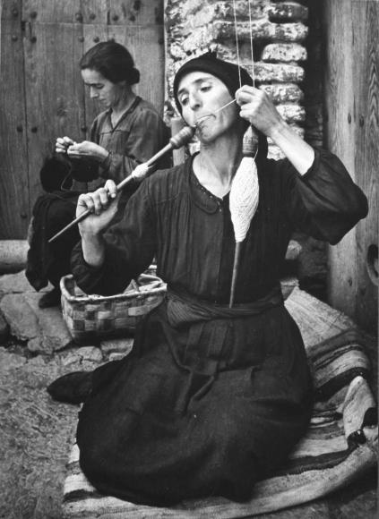 W. Eugene Smith - Spanish Village, The Spinner, 1950  | Bruce Silverstein Gallery