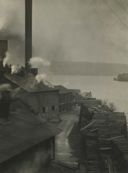 E. O. Hoppé - Lumber Yard, Seattle, Washington, 1926  | Bruce Silverstein Gallery