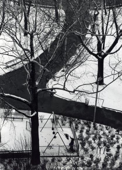 André Kertész - Swings, February 1, 1973 ; Bruce Silverstein Gallery
