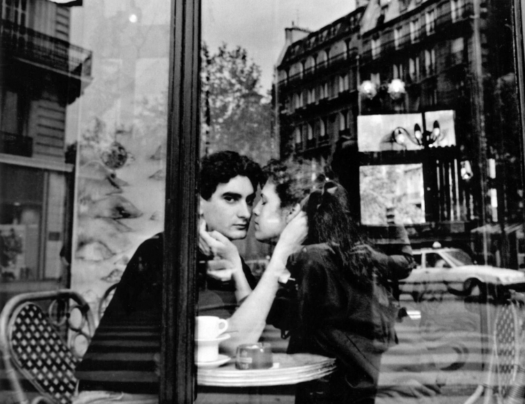 Frank Paulin - Oceon Cafe Couple, Paris, France, 1992 Gelatin silver print mounted to board, printed c. 1992 | Bruce Silverstein Gallery