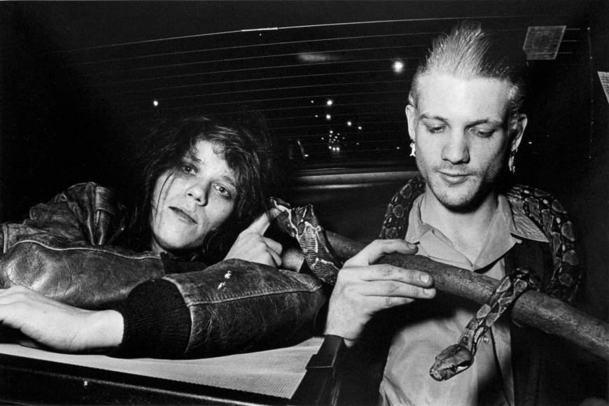 Ryan Weideman- Snake People, Lower East Side, 1984 Gelatin silver print   Bruce Silverstein Gallery