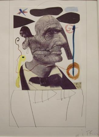 Joel-Peter Witkin - Lincoln Looking at Miro, 2000 Mixed media collage ; Bruce Silverstein Gallery
