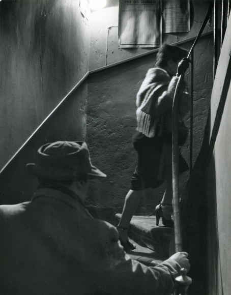 Robert DoisneauThe Stairway, 1952 Gelatin silver print, printed c. 1952. 9 x 7 1/8 inches