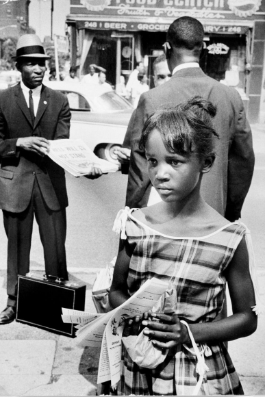 Leonard Freed - Black in White America, Brooklyn, New York, 1963  | Bruce Silverstein Gallery