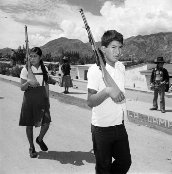 Rosalind Fox Solomon,Independence Day, New Yungay, Peru, 1980 | Bruce Silverstein Gallery