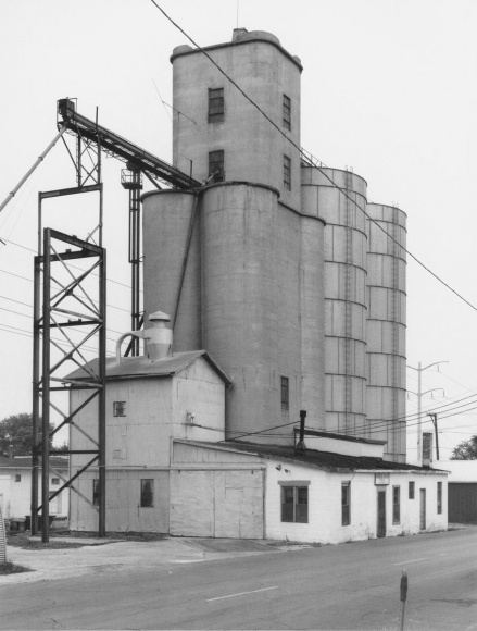 Bernd and Hilla Becher - Grain Elevator, Kankakee, Illinois, USA, 1982  | Bruce Silverstein Gallery