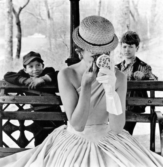 Makeup, Central Park, New York City, 1955 	Gelatin silver print, printed later 	14 x 11 inches