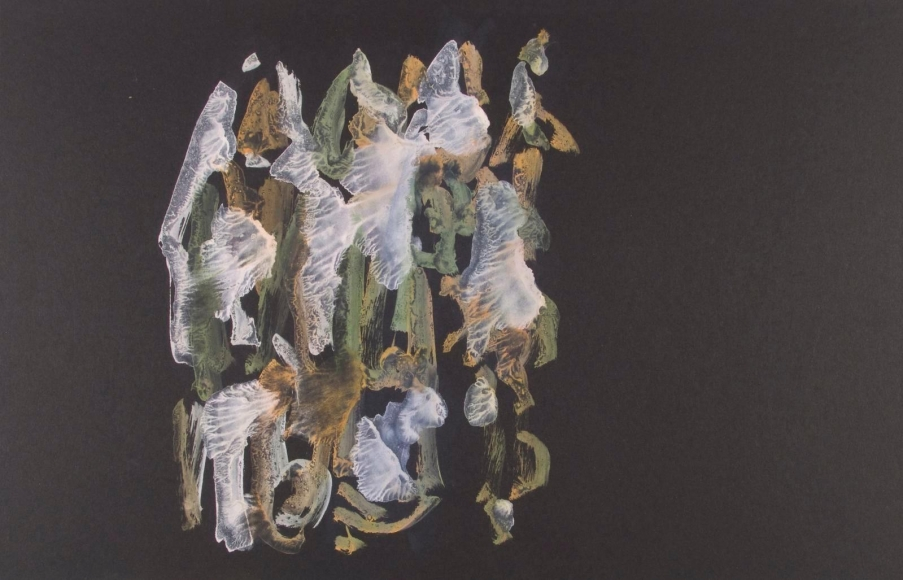 Frederick Sommer - Untitled, c. 1950-55 Glue color drawing on paper | Bruce Silverstein Gallery