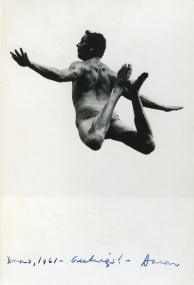 Aaron Siskind - Image fromPleasures and Terrors of Levitation(Christmas Card), 1961 Gelatin silver print | Bruce Silverstein Gallery