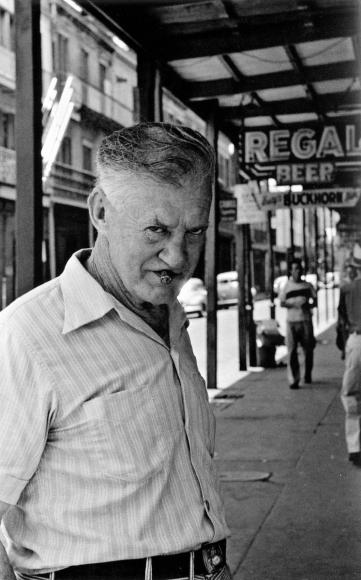Frank Paulin - Man With Cigar, New Orleans, 1952 Gelatin silver print, printed c. 1952 | Bruce Silverstein Gallery