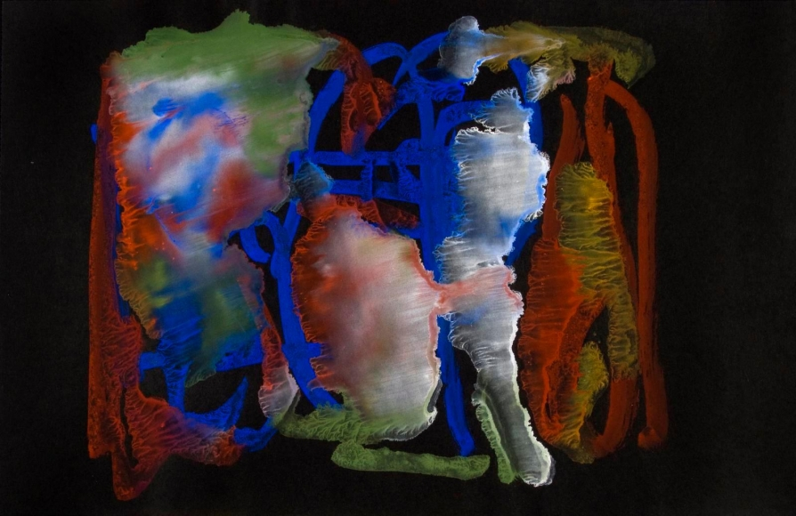 Frederick Sommer - Untitled,1956 Glue color drawing on paper | Bruce Silverstein Gallery
