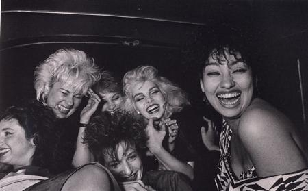 Ryan Weideman - Six Girls Crack Up, 1982 Gelatin silver print ; Bruce Silverstein Gallery