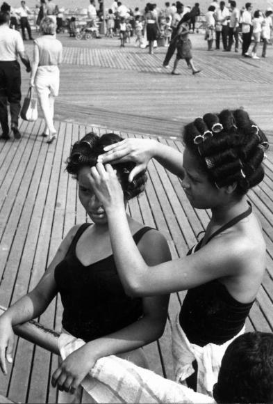 Leonard Freed - Black in White America, Coney Island, New York, 1963  | Bruce Silverstein Gallery