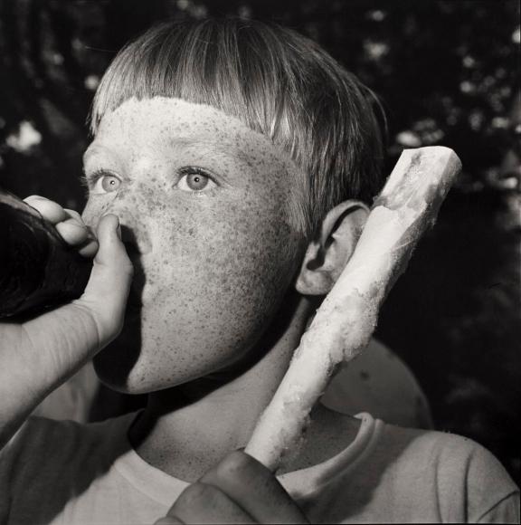 Rosalind Fox Solomon,Boy with Cokeand Cotton Candy, Scottsboro, Alabama, 1976 | Bruce Silverstein Gallery