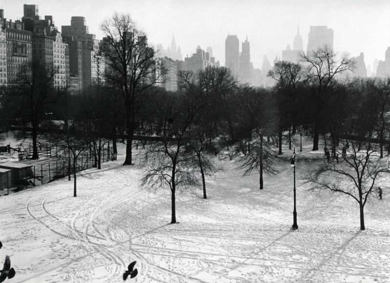 Frank Paulin - Central Park Cityscape, New York City, 1957 Gelatin silver exhibition print mounted to board, printed c. 1957 | Bruce Silverstein Gallery