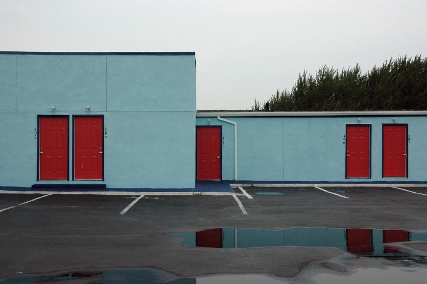 Zoe Strauss - Blue and Red Motel, 2001-2008  | Bruce Silverstein Gallery