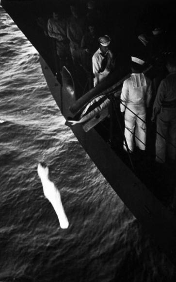 W. Eugene Smith - World War II, Marshall Islands, Burial at Sea, 1944  | Bruce Silverstein Gallery