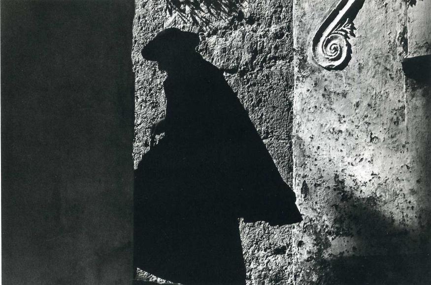 Ernst Haas -  Positano Priest, Italy, 1953    Bruce Silverstein Gallery
