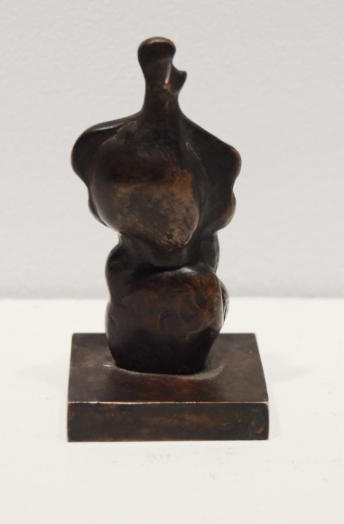Henry Moore (1898-1986)Three-Quarter Women, 1983 Bronze with brown patina 3 3/4 x 2 x 1 3/4 in. (9.5 x 5.1 x 4.5 cm)