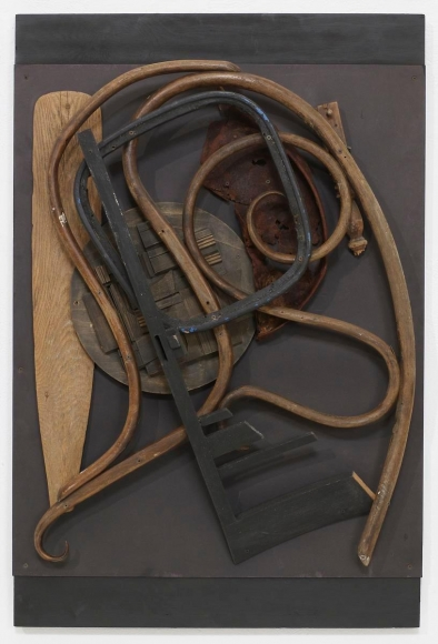 Louise NevelsonUntitled, 1976 Metal, paint and wood on board. 48 x 32 x 8 inches