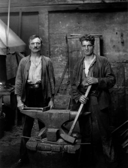 August Sander - Blacksmiths, 1926  | Bruce Silverstein Gallery