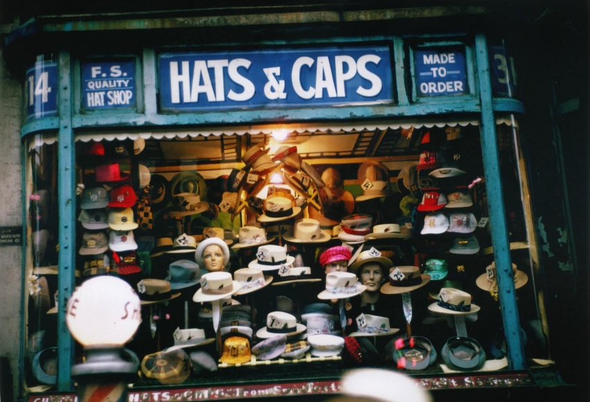 Ruth Orkin -  Hats and Caps, NYC,c. 1950  | Bruce Silverstein Gallery