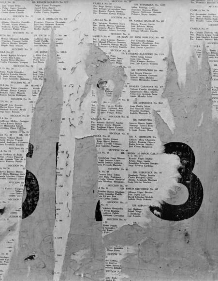 Aaron Siskind San Luis Potosi 10, 1961 Gelatin silver print, printed c.1961 14 x 11 inches