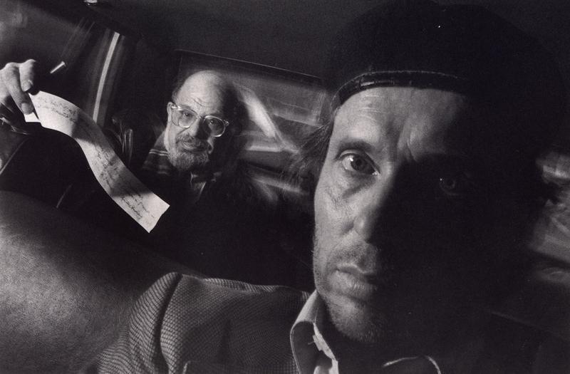 Ryan Weideman - Self-Portrait with Passenger Allen Ginsberg, 1990 Gelatin silver print ; Bruce Silverstein Gallery