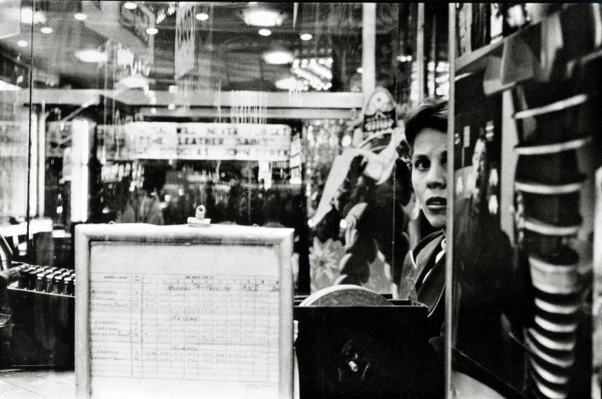 Frank Paulin - Movie Ticketseller, Times Square, 1957 Gelatin silver print   Bruce Silverstein Gallery