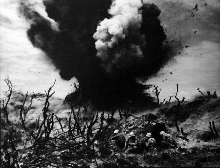 W. Eugene Smith - World War II, Iwo Jima, Sticks and Stones, 1945  | Bruce Silverstein Gallery
