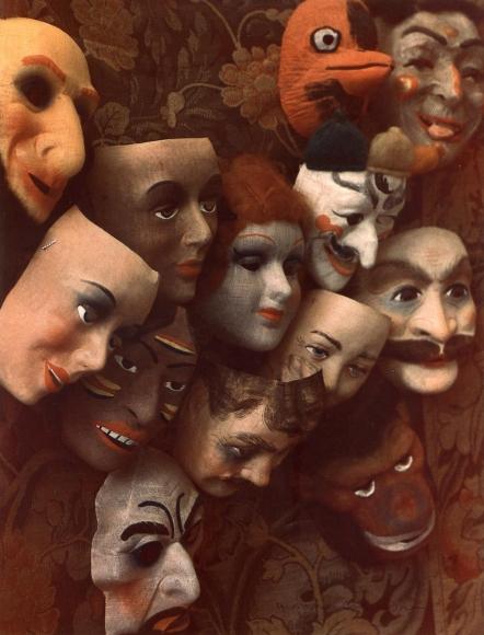 Marie Cosindas -  Masks, Boston,1966  | Bruce Silverstein Gallery