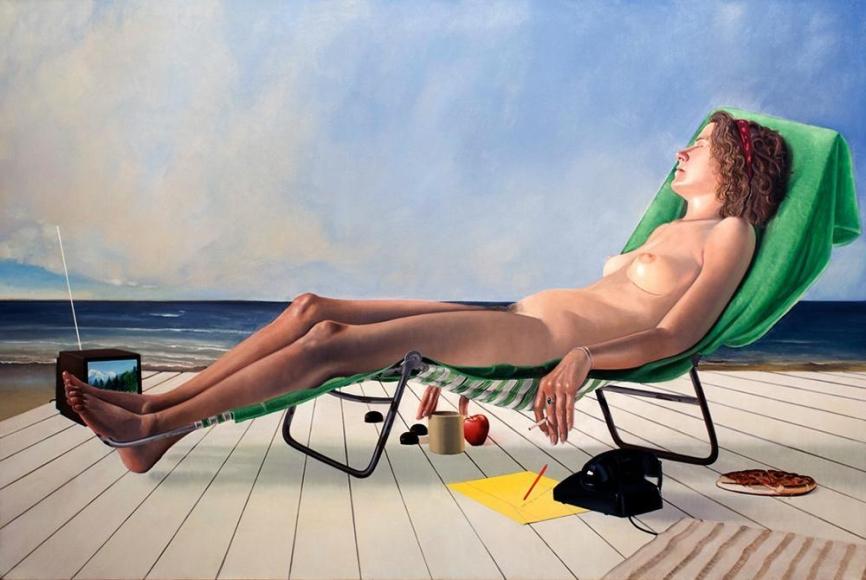 Alfred Leslie - Casey Key, 1983 ; Bruce Silverstein Gallery