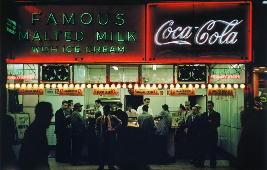 Ruth Orkin -  Famous Malted Milk, NYC,c. 1950  | Bruce Silverstein Gallery