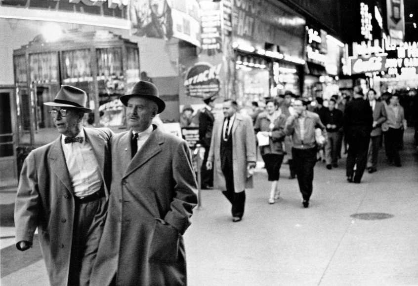 Frank Paulin - On the Town, Times Square, New York City, 1954 Gelatin silver print mounted to board, printed c. 1954 | Bruce Silverstein Gallery