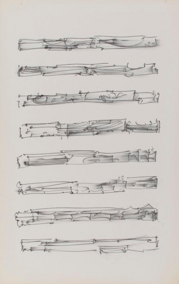 Frederick Sommer - Untitled, 1990 Pen and ink drawing on paper | Bruce Silverstein Gallery