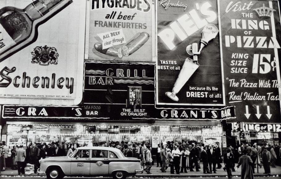 Frank Paulin - Grant's Bar, New York City, 1956 Gelatin silver print, printed c. later | Bruce Silverstein Gallery