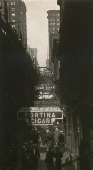 E. O. Hoppé - La Salle Street, Chicago, 1926    Bruce Silverstein Gallery