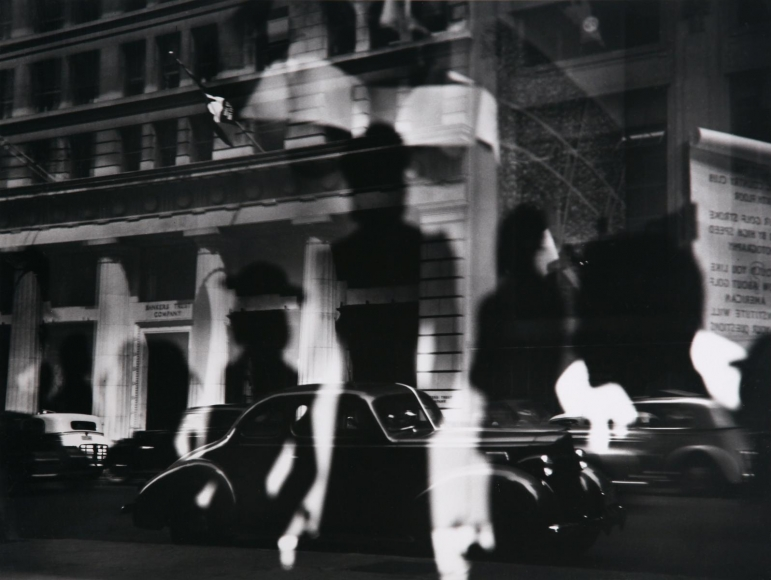 Lisette Model -  Reflections, Rockefeller Center, New York, c.1945  | Bruce Silverstein Gallery