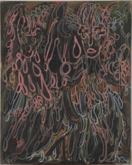 Frederick Sommer - Untitled, 1946 Glue tempura on canvas | Bruce Silverstein Gallery