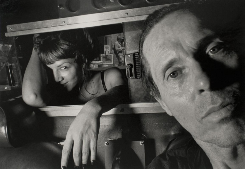 Ryan Weideman - Self-Portrait with Coy Female, 1997 Gelatin silver print ; Bruce Silverstein Gallery
