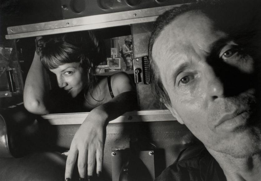 Ryan Weideman - Self-Portrait with Coy Female, 1997 Gelatin silver print ; Bruce Silverstein Gallery