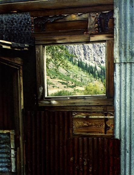 Eliot Porter -  Window in Tin Wall, Eureka, Colorado, 1958  | Bruce Silverstein Gallery